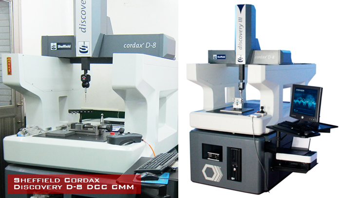 Sheffield Cordax CMM inspection services machine.