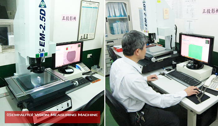 2.5D Vision Measuring Machine for real-time inspection.