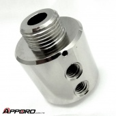 Chrome Plated Brass Fireproof Gas Filtration Valve Housing 01
