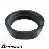 APPORO Plastic Injection Molding Black ABS Medical Grade Serrated Hex Flange Nut 02