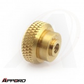 Taiwan OEM Customized CNC Lathe Turning Part Manufacturer Free Cutting Brass Control Knob Knurled Nut Cap 03
