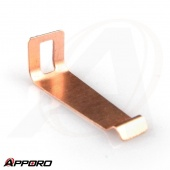 APPORO Stamping Bending Manufacturing Parts Bronze Short Battery Spring Contact Plate 03