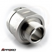 APPORO CNC Turned Milling Part Stainless Steel 316L Tranducer End Cap Adapter 03