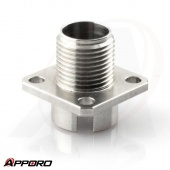 CNC Turning Lathe Manufacturer Stainless Steel 304 Square Thraed Flange Adapter 03