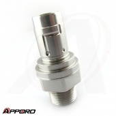 APPORO CNC Turning Lathe Manufacturer Stainless Steel 316 Bulkhead Tube Fitting Socket Connector 04