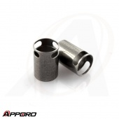 APPORO CNC Lathe Turning Part Stainless Steel 303 Measurement Equipment Metal  Shaft Sleeve Bushing 04