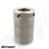 APPORO CNC Lathe Turning Part Stainless Steel 303 Knurled Hollow Shaft Drive Roller 04