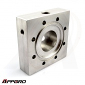 APPORO CNC Milling Manufacturer Stainless Steel 304 Flange Square Base Plate 04