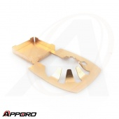 APPORO Stamping Bending Manufacturing Parts Brass Battery Spring Contact Plate Clip 03